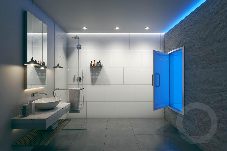 Tiled Float Room