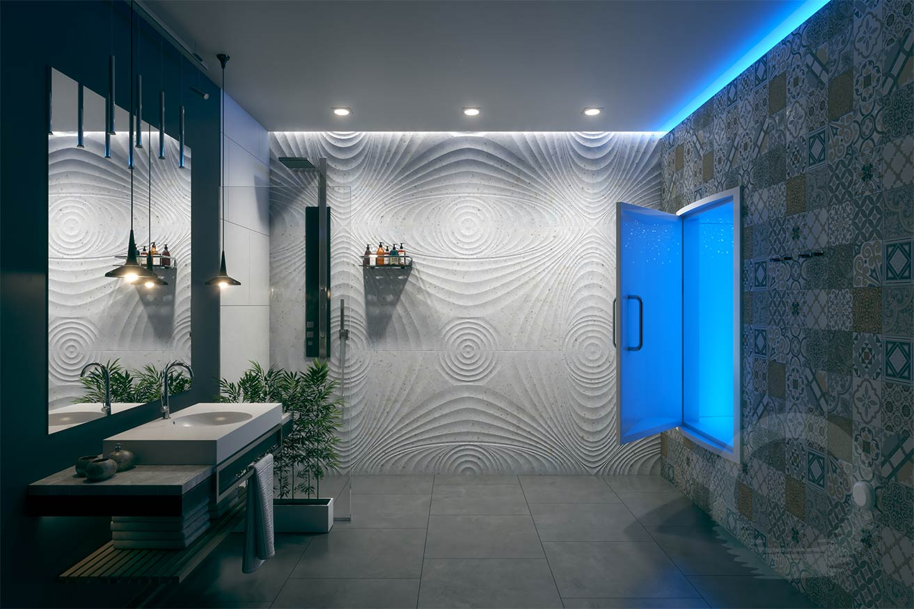 Tiled Float Room